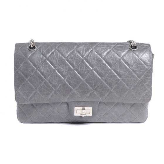 351047007a2f CHANEL Aged Calfskin 50th Anniversary 2.55 Reissue 227 Flap Grey 50847