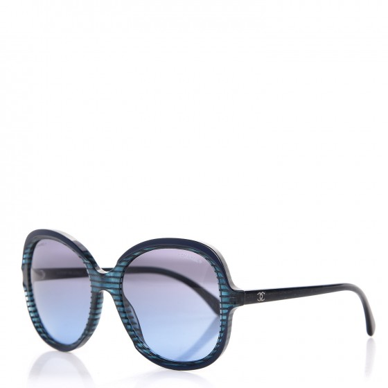 8bd67a5b541 CHANEL CC Striped Glitter Sunglasses 5320 Blue. Empty. Pinch Zoom. ‹ › ‹ ›