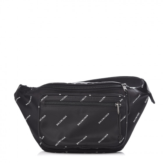 d412c29b4ff BALENCIAGA Canvas Explorer Logo Belt Bag Black White. Pinch/Zoom. ‹ › ‹ ›
