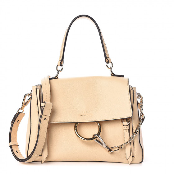 24746f37ef8 CHLOE Calfskin Small Faye Day Shoulder Bag Blondie Beige 378363