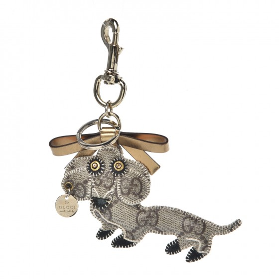 fdc9095eafa GUCCI GG Supreme Dog Key Charm 325831