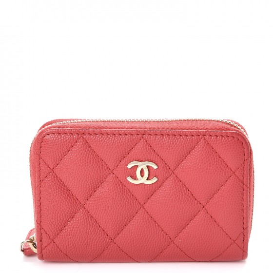 a1ba74c66c24 CHANEL Caviar Quilted Zip Coin Purse Dark Pink. Empty. Pinch/Zoom