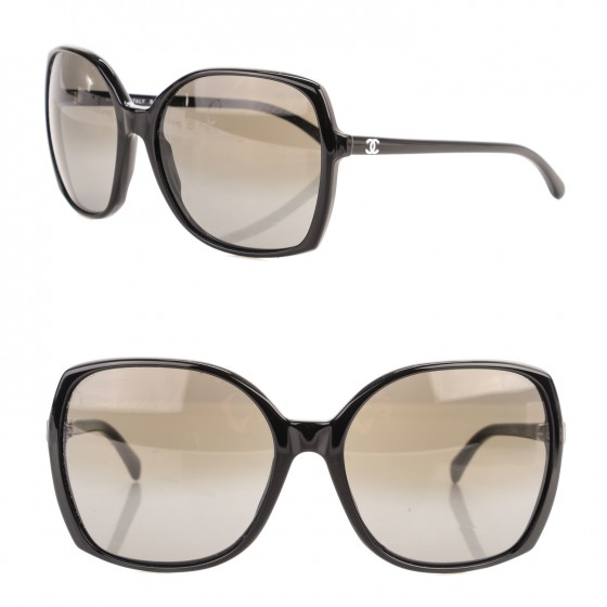 a303609eff CHANEL Oversized CC Sunglasses 5204 Black 168750