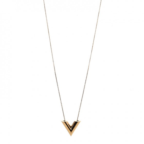 0ccb672cfcf3 LOUIS VUITTON Large Essential V Necklace Gold 320107