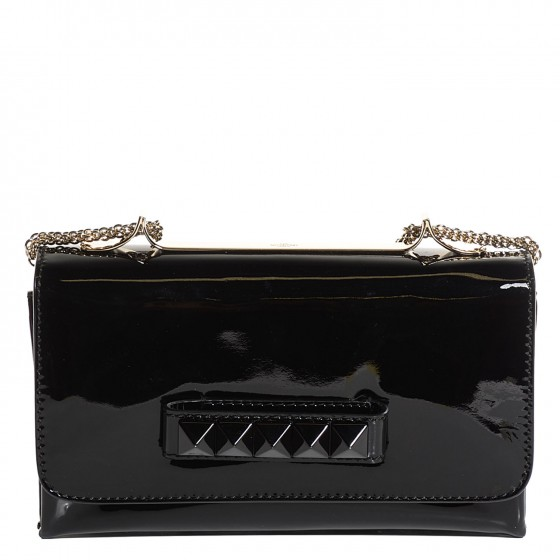 599b6875b37 VALENTINO Patent Calfskin Va Va Voom Shoulder Bag Black. Empty. Pinch/Zoom.  ‹ › ‹ ›