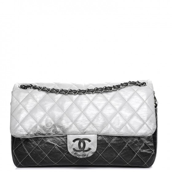 9097fd96142f CHANEL Vinyl Quilted Jumbo Melrose Degrade Flap 210925