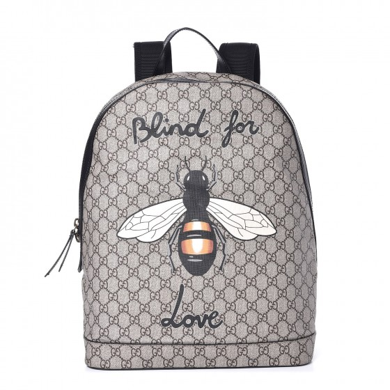 7173aafddbc9 GUCCI GG Supreme Monogram Blind For Love Backpack 338554