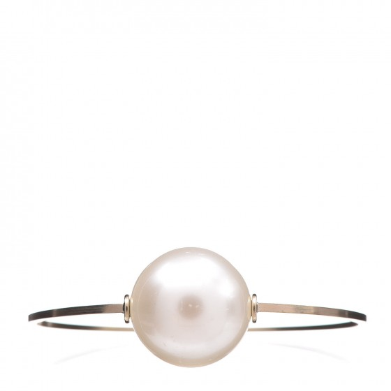 bb8a8deed262a CHANEL Pearl Medium Bangle Gold
