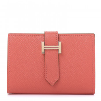 HERMES Epsom Mini Bearn Wallet Rose Jaipur