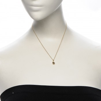 3fee59689 TIFFANY 18K Yellow Gold Elsa Peretti Teardrop Pendant Necklace. Empty.  Pinch/Zoom. ‹ › ‹ ›