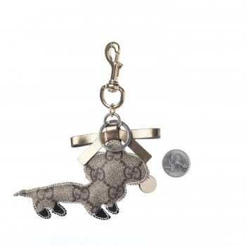 263f5a838e1 GUCCI GG Supreme Dog Key Charm. Empty. Pinch Zoom. ‹ › ‹ ›
