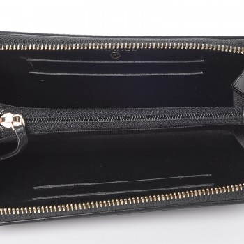 01a3f622b37810 CHANEL Caviar Quilted Small Filigree Zip Around Wallet Black. Empty.  Pinch/Zoom. ‹ › ‹ ›