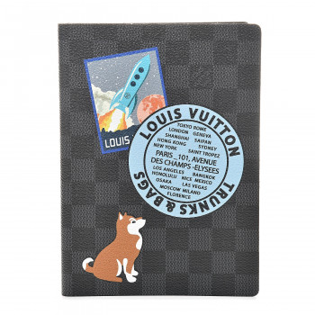 LOUIS VUITTON Damier Graphite My LV World Tour Clemence Notebook MM
