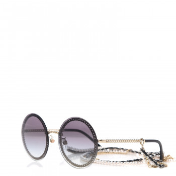 CHANEL Round Chain Sunglasses 4245 Gold