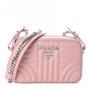 PRADA Soft Calfskin Diagramme Crossbody Bag Pesco