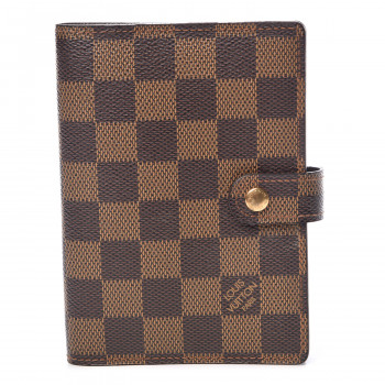 bd47211fb222 LOUIS VUITTON Damier Ebene Small Ring Agenda Cover