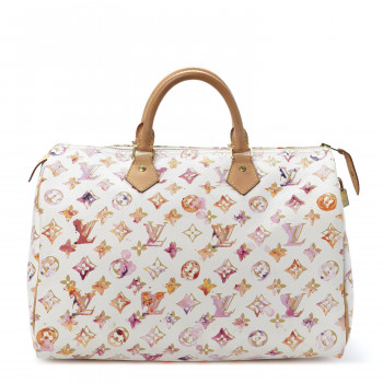 LOUIS VUITTON Watercolor Aquarelle Speedy 35 White