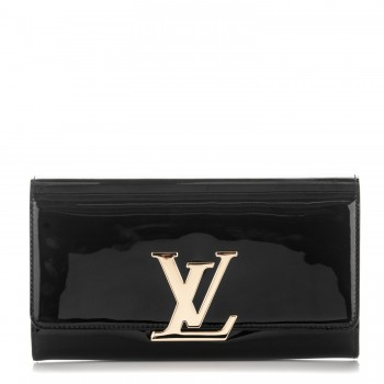 4cfc1fe46a9f LOUIS VUITTON Vernis Louise EW Clutch Black. Empty. Pinch Zoom