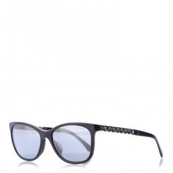CHANEL Cat Eye Chain Sunglasses 5260-Q Black