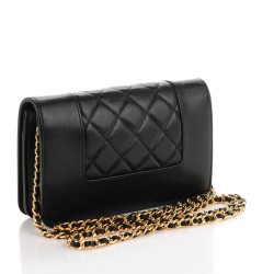 ff2775133c20 CHANEL Sheepskin Quilted Mademoiselle Vintage Wallet On Chain WOC ...