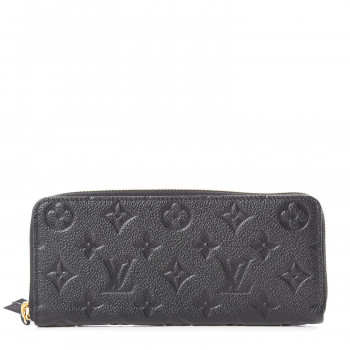 LOUIS VUITTON Empreinte Clemence Wallet Black