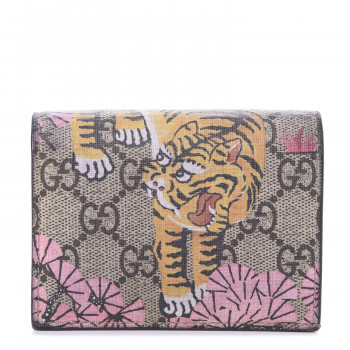 GUCCI GG Supreme Monogram Bengal Print Card Case