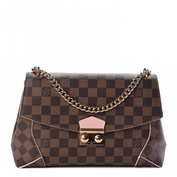 LOUIS VUITTON Damier Ebene Caissa Clutch Rose Ballerine