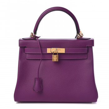 HERMES Evercolor Kelly Retourne 28 Anemone