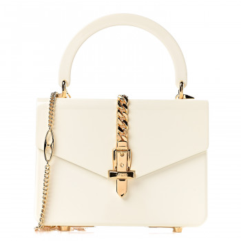 GUCCI Plexiglass Sylvie 1969 Mini Top Handle Bag Ivory