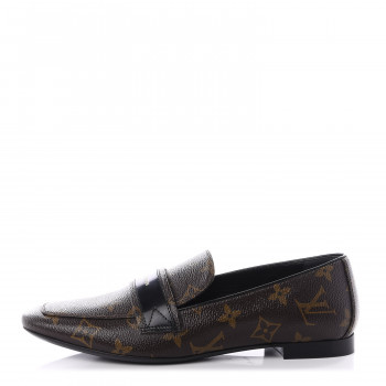 LOUIS VUITTON Monogram Upper Case Flat Loafer 37