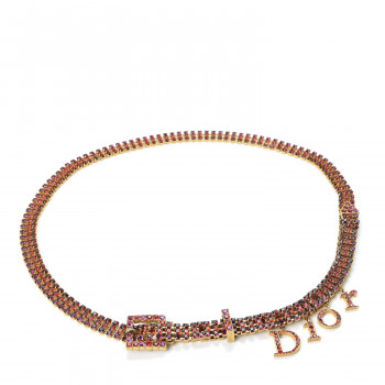 CHRISTIAN DIOR Crystal Charm Belt Multicolor
