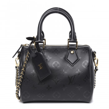 LOUIS VUITTON Monogram Ink Speedy BB Black