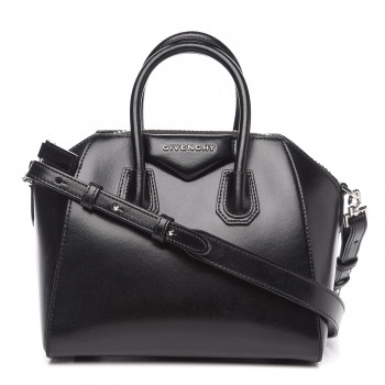 GIVENCHY Shiny Lord Calfskin Mini Antigona Black