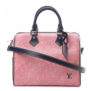 LOUIS VUITTON Epi Speedy Bandouliere 25 Denim Red