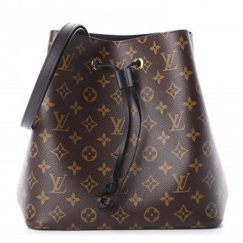 LOUIS VUITTON Monogram Neonoe MM Black