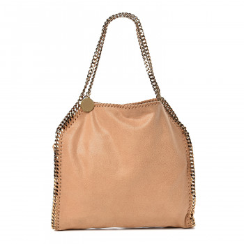 STELLA MCCARTNEY Shaggy Deer Small Falabella Tote Tan