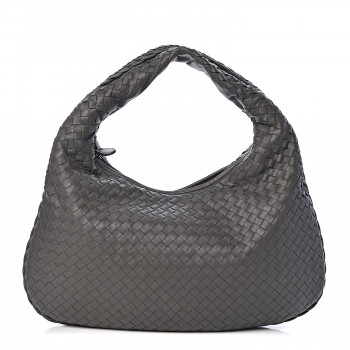 BOTTEGA VENETA Nappa Intrecciato Small Veneta Hobo Grey