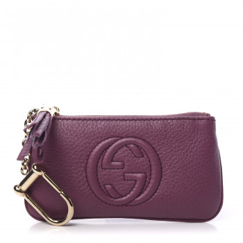 GUCCI Calfskin Soho Key Case Peonia Flower