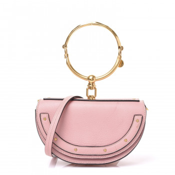 CHLOE Calfskin Small Nile Bracelet Minaudiere Bag Washed Pink
