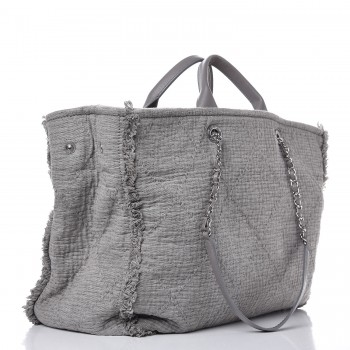 8cb0d9596813 CHANEL Canvas Extra Large Double Face Shopping Tote Grey. Empty.  Pinch Zoom. ‹ › ‹ ›