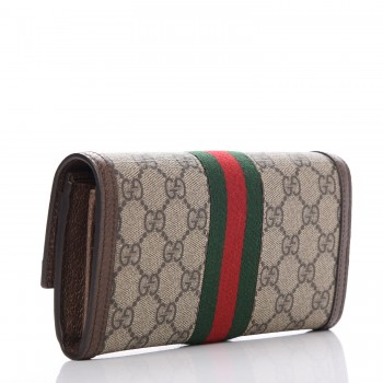 7204e3af831 GUCCI GG Supreme Monogram Web Ophidia Continental Wallet Brown. Empty.  Pinch Zoom