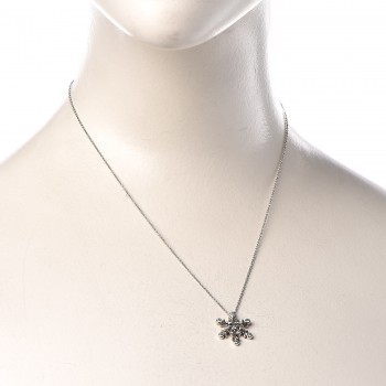 e68da4666 TIFFANY Platinum Diamond Snowflake Pendant Necklace. Empty. Pinch/Zoom. ‹ ›  ‹ ›