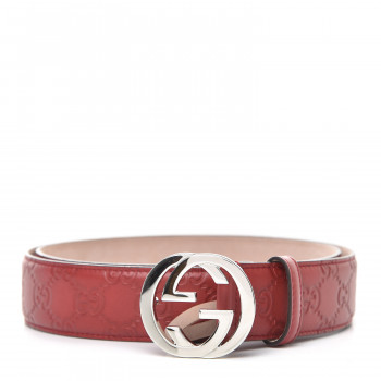 GUCCI Guccissima Interlocking G Belt 95 38 Red