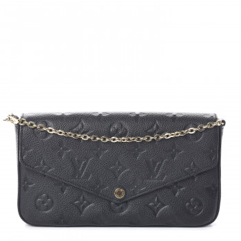 LOUIS VUITTON Empreinte Pochette Felicie Chain Wallet Black
