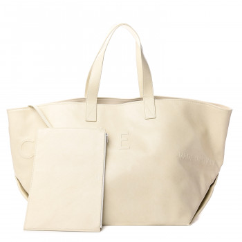 CELINE Calfskin Medium Made In Tote White