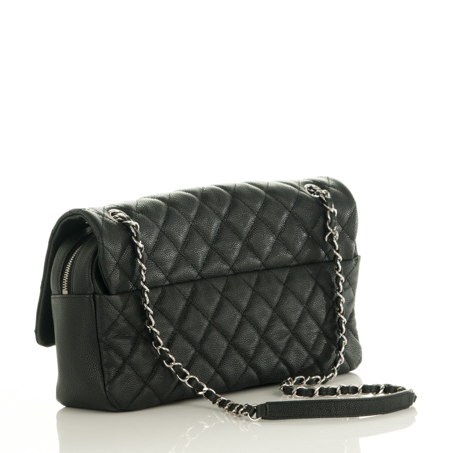 6d94f9c25fac CHANEL Caviar Quilted Jumbo Easy Flap Black. Empty. Pinch Zoom. ‹ › ‹ ›