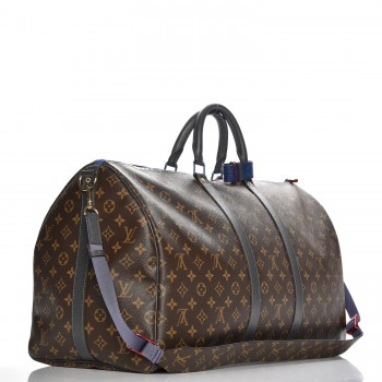 37ec9d3ff LOUIS VUITTON Monogram Taiga Outdoor Keepall Bandouliere 55. Empty.  Pinch/Zoom. ‹ › ‹ ›