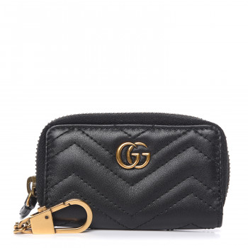 GUCCI Calfskin Matelasse Key Case Black