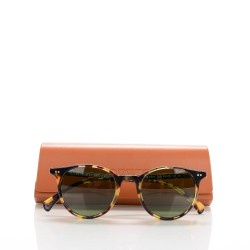 992b435ffb2a8 OLIVER PEOPLES Delray Sun Sunglasses Vintage Dark Tortoise Brown. Empty.  Pinch Zoom