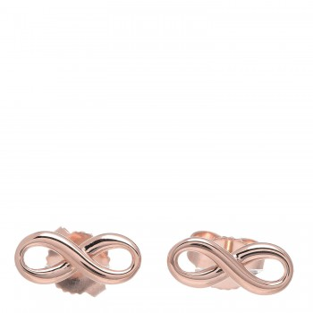 9f5fd96322f25 TIFFANY 18K Rose Gold Infinity Earrings 332602